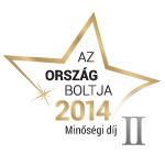 Ország Boltja 2014 Minőségi díj Számítástechnika kategória II. helyezett